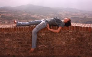 woman lying on wall edited
